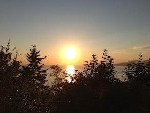 Photo: Setting sun at the University of British Columbia