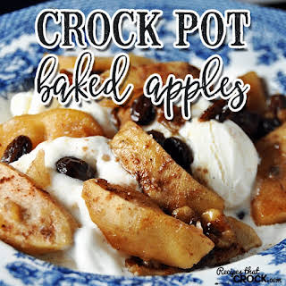 Crock Pot Baked Apples.