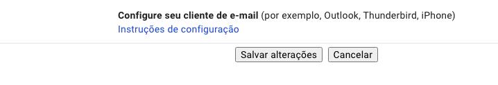 Configurações do cliente de e-mail - HostGator