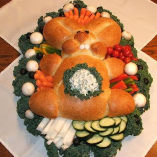 Spring Bunny Bread with Dip in Tummy.