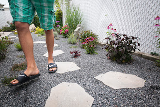 Photo: Stepping stone pathways allow us to walk through the garden – not just around it – which makes it more a more intimate experience.