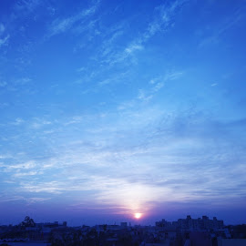 Sunset  by Siddharth Dhiman - Instagram & Mobile Android ( sky, nature, sunset, sun, landscape )