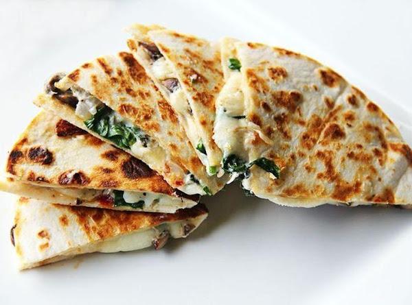 Goat Cheese,spinach & Mushroom Quesadilla Recipe