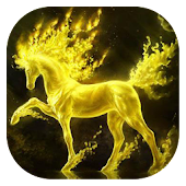 Golden horse live wallpaper