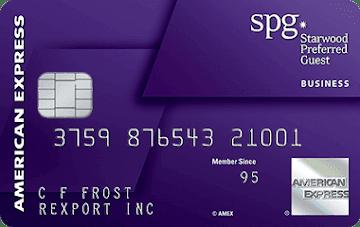 SPG Preferred American Express card