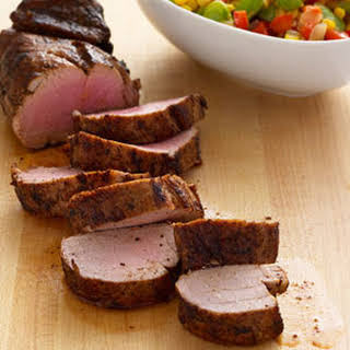 Pork Tenderloin with Summer Succotash.