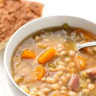 Instant Pot Ham Hock and Bean Soup.