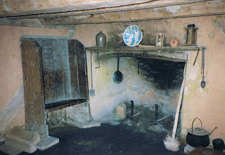 Photo: Interior of a Jamestown settlement cottage. This was one half of the house.