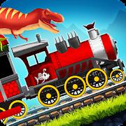 Dinosaur Park Train Race