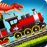 Dinosaur Park Train Race Icon