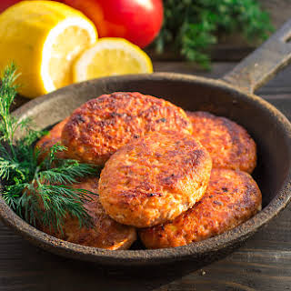 Old Bay Salmon Cakes.