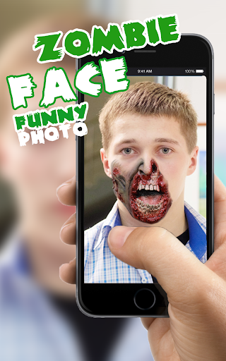 Zombie Face Funny Photo