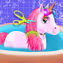 Unicorn Braided Hair Salon Makeover Hairstyle icon