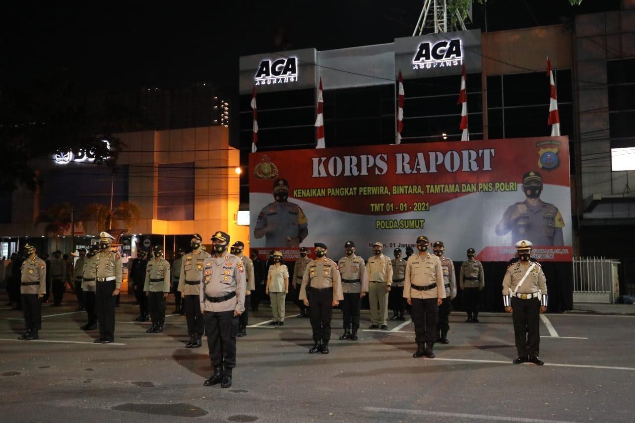 Pimpin Korps Rapot Kenaikan Pangkat , Kapolda Sumut : Naik pangkat adalah penghargaan dari Intansi Polri untuk Personil.