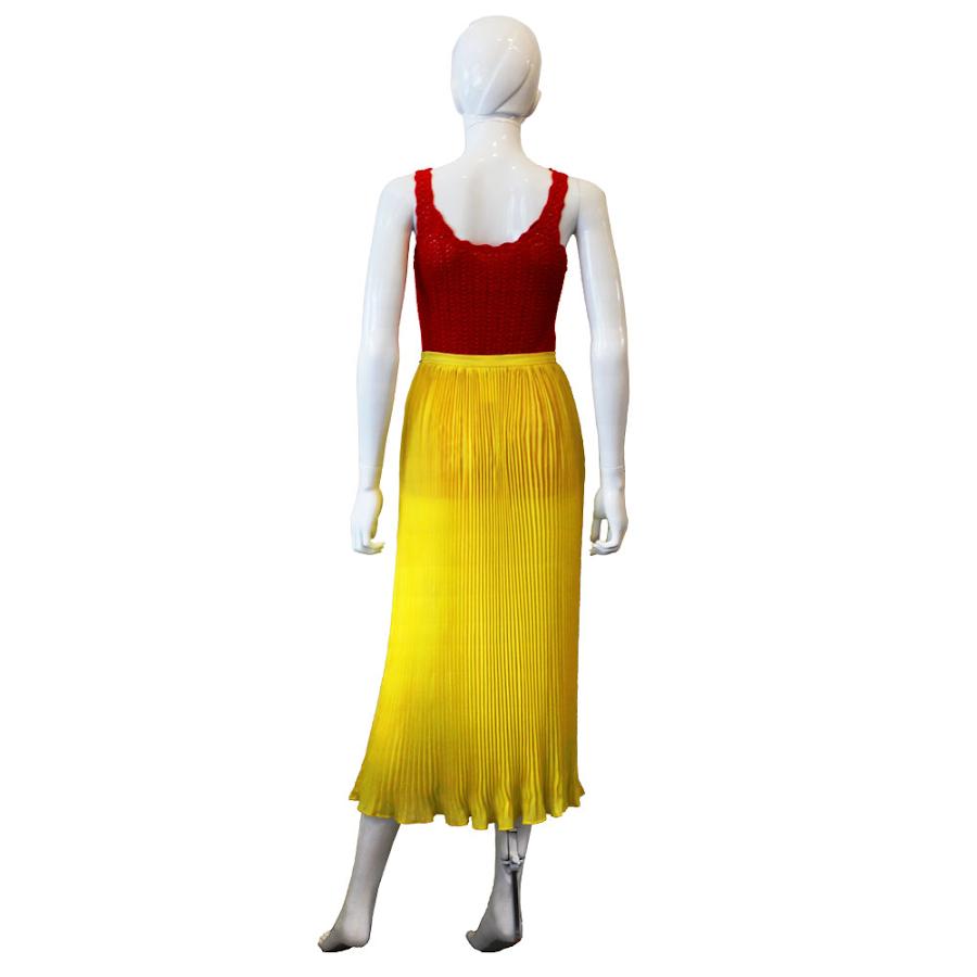 6cdb9950e5 Yellow Pleated Lolita Lempika Skirt