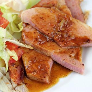 Ham Steak with Red-Eye Gravy.