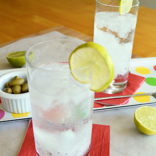 A Gin Rickey; Refreshing and perfect for the hot days of August!