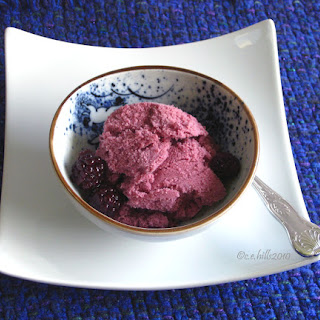 Sugar Free Blackberry Cabernet Ice Cream