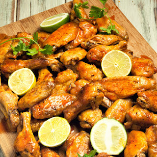 Spicy Lime Baked Chicken Wings