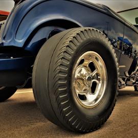 Blue Boy by Benito Flores Jr - Transportation Automobiles ( blue, car, rims, temple, texas, car show, tires )