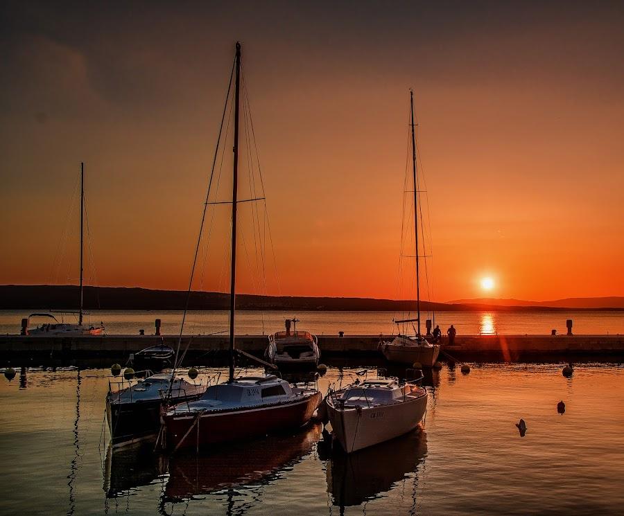 sailing boats by Eseker RI - Transportation Boats ( selce, croatia, jadransko more, , #GARYFONGDRAMATICLIGHT, #WTFBOBDAVIS )