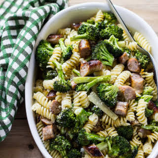Pasta With Roasted Broccoli + Chicken Sausage.