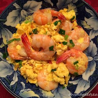 Stir Fry Shrimp with Eggs