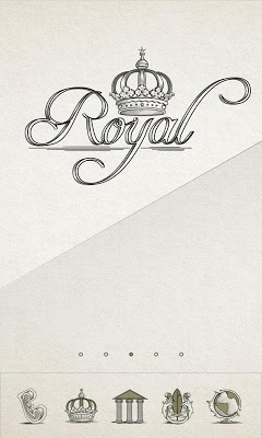 Royal Paper GO Launcher - screenshot