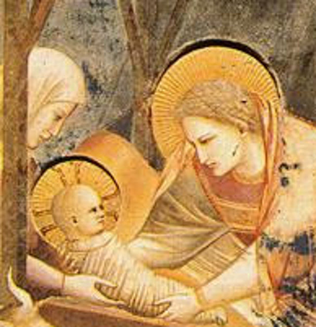 Giotto Arena Chapel Nativity, detail
