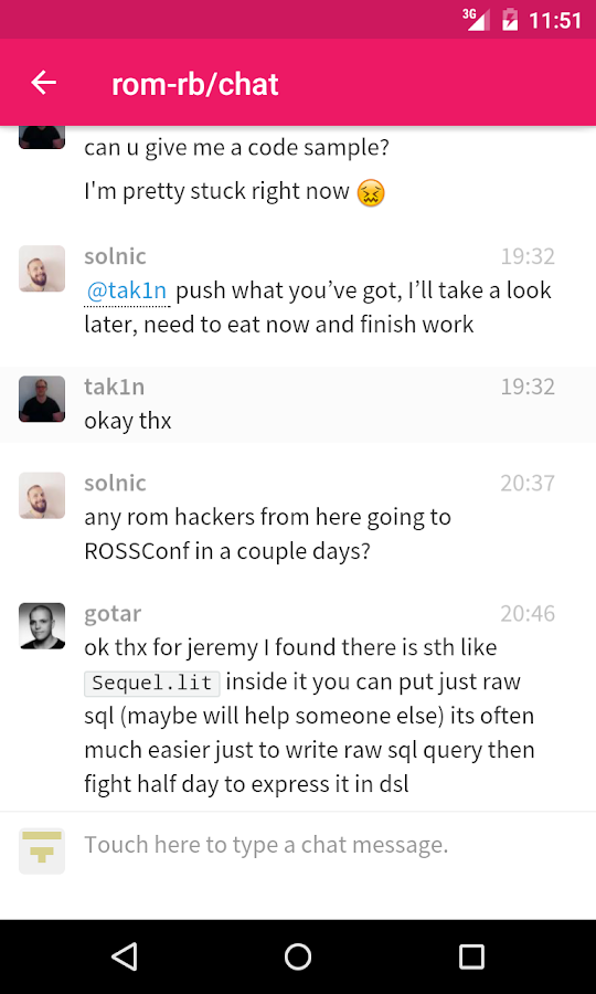 Gitter: Chat for Github & more- screenshot