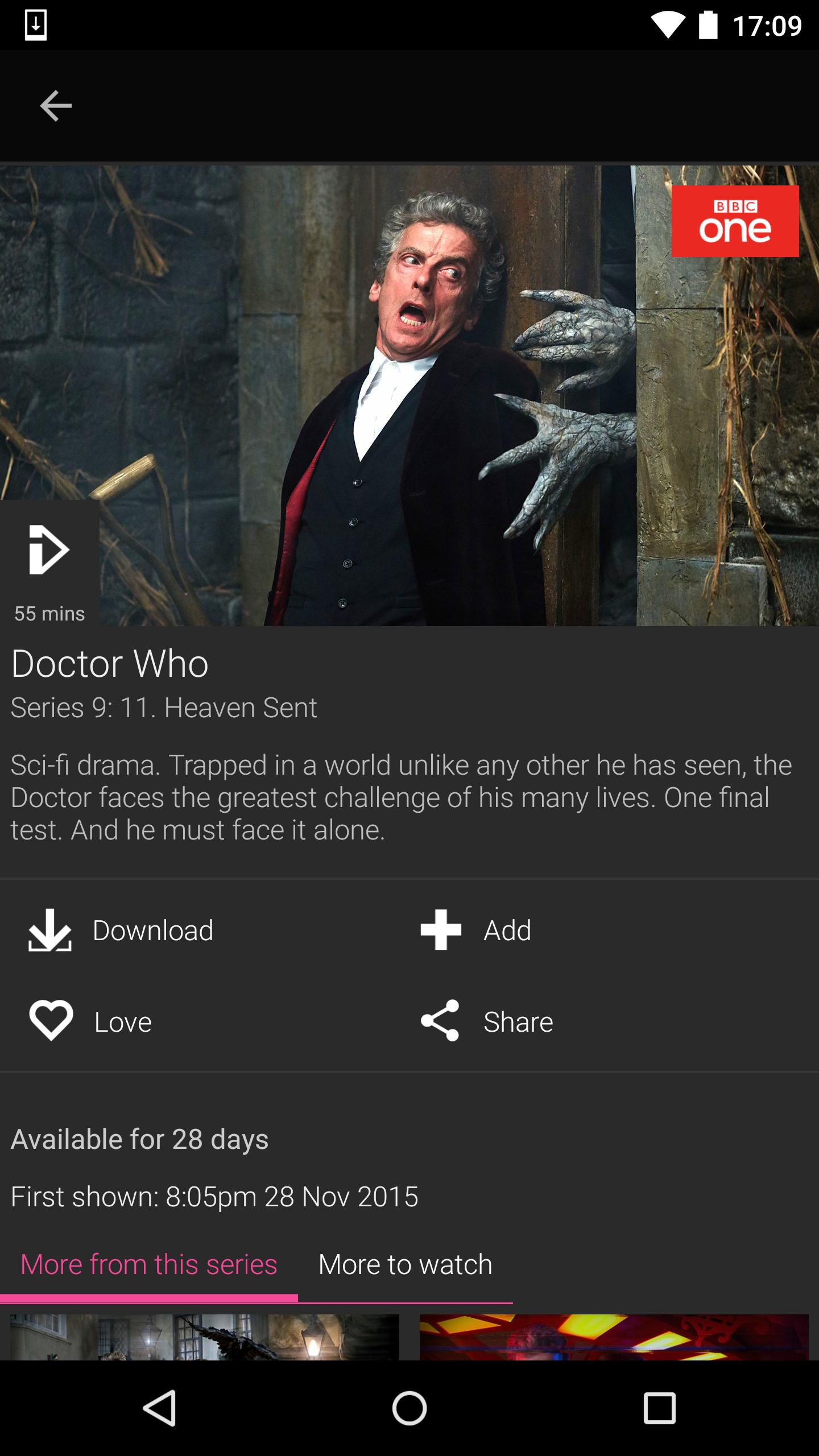 BBC iPlayer screenshot #6