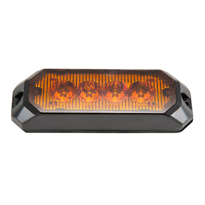 Blixtljus Orange LED med orange lins 100x31x21