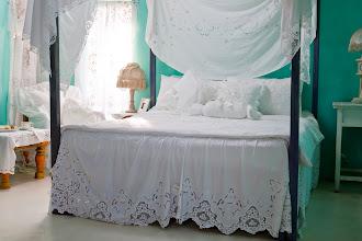 Photo: 加大刺繡床裙罩