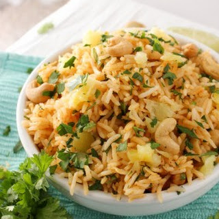 Tropical Coconut Pineapple Cashew Rice.