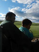 Photo: Bogi and son.