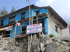 Photo: The TIMS check post in Birethanti (1000m)