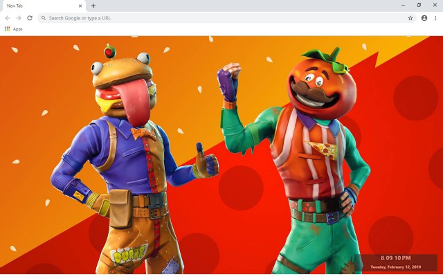 Tomatohead Fortnite New Tab Theme