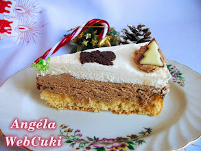 Photo: Tejszínes karácsonyi torta szelet  http://angelawebcuki.blogspot.hu/2014/12/tejszines-karacsonyi-torta.html