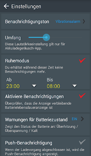 Laden Sie den Akku-Alarm Screenshot