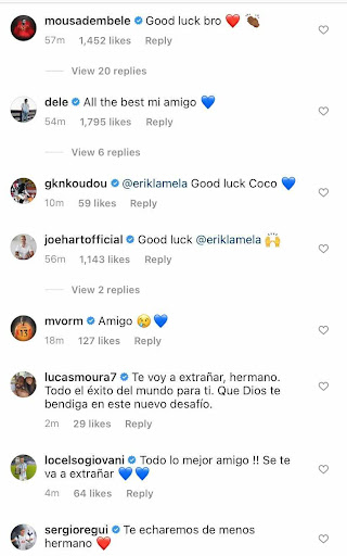 Mousa Dembele, Lucas Moura and Tottenham players react to Monday announcement