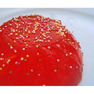 Red Jello Dessert.