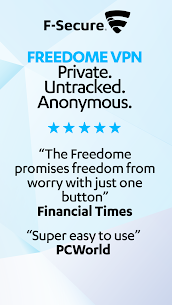 FREEDOME VPN Unlimited anonymous Wifi Security App Download For Android 8