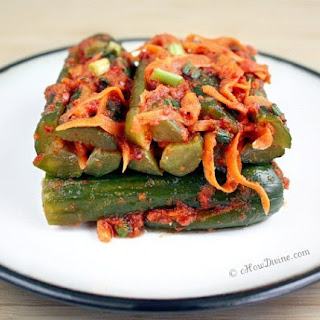 Diet Korean Stuffed Cucumbers