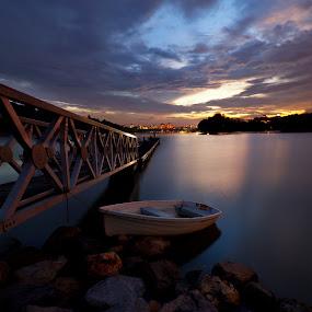 Its time to Rest by Zackri Zim's - Transportation Boats ( zackri zim's, d3000, vertorama, nature, waterscape, wetland, sunset, malaysia, transportation, boat, nikon, kitlens )
