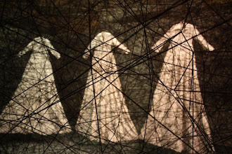 Photo: After the Dream by Chiharu Shiota - also on view was a time-lapse video of the creation of the work in situ.