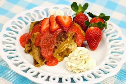 """Peanut Butter and Jelly French Toast""""French toast is one of my favorite..."""