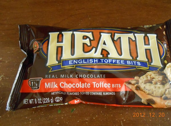 Roll into balls (I use a small ice cream scoup).  Place English Toffee...