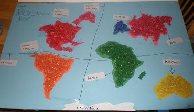 Photo: Jihad's Macaroni Map project for school.