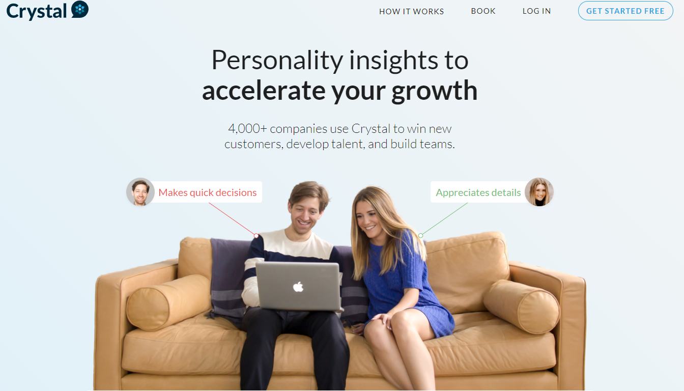 Crystal gives you a range of insights
