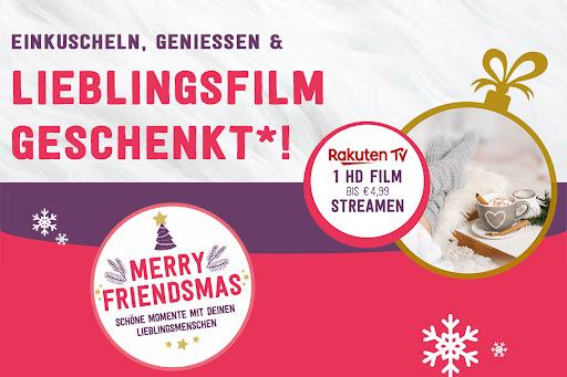 Bild für Cashback-Angebot: Friendsmas - Einkuscheln, genießen, Lieblingsfilm geschenkt